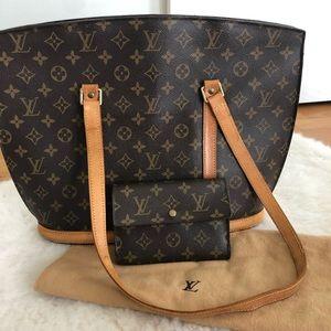 Authentic Louis Vuitton Babylonr bag &wallet